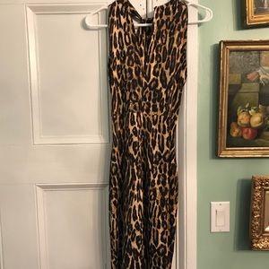 Michael Kors   NWT bodycon leopard knee lgth dress